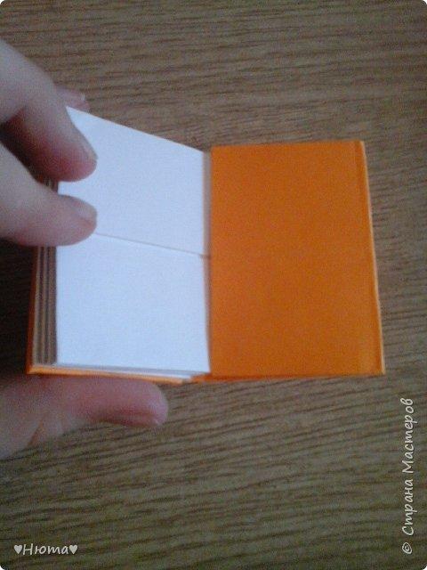 мини-блокнотик из бумаги МК фото 19