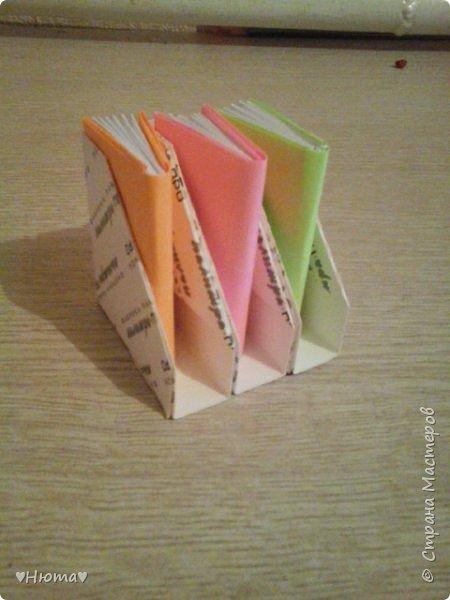 мини-блокнотик из бумаги МК фото 1