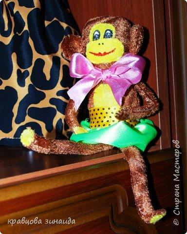 ДОБРЫЙ ВЕЧЕР МОИ ДОРОГИЕ ДРУЗЬЯ ! наконец то я успела сшить символ нового года, обезьянки, получились в стиле интерьерные поделки фото 4