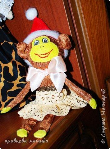 ДОБРЫЙ ВЕЧЕР МОИ ДОРОГИЕ ДРУЗЬЯ ! наконец то я успела сшить символ нового года, обезьянки, получились в стиле интерьерные поделки фото 3