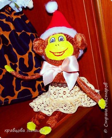 ДОБРЫЙ ВЕЧЕР МОИ ДОРОГИЕ ДРУЗЬЯ ! наконец то я успела сшить символ нового года, обезьянки, получились в стиле интерьерные поделки фото 5