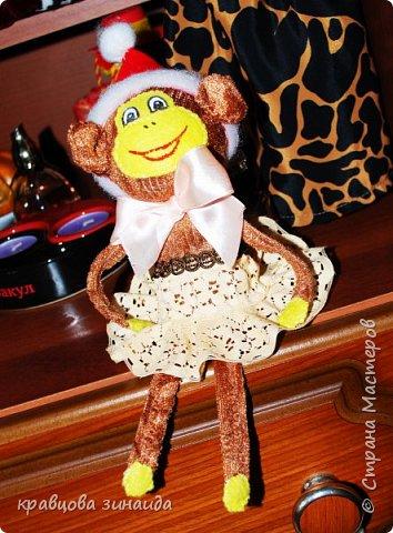 ДОБРЫЙ ВЕЧЕР МОИ ДОРОГИЕ ДРУЗЬЯ ! наконец то я успела сшить символ нового года, обезьянки, получились в стиле интерьерные поделки фото 6