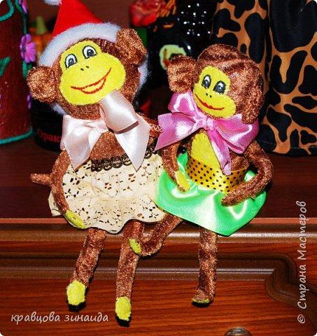 ДОБРЫЙ ВЕЧЕР МОИ ДОРОГИЕ ДРУЗЬЯ ! наконец то я успела сшить символ нового года, обезьянки, получились в стиле интерьерные поделки фото 7