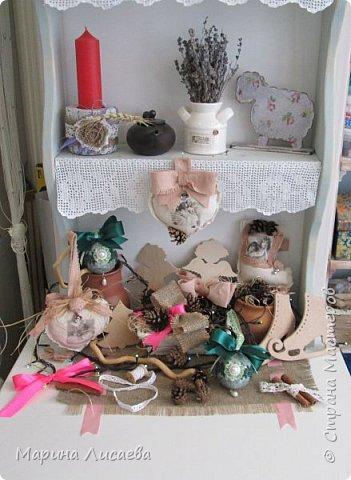 Здравствуйте, мои дорогие жители СМ! Показываю вам, как вы уже догадались, елочные игрушки. Почти все они сделаны в подарок. Эти винтажные делала для сватов, хотя они очень понравились невестке. Пока не знаю кому подарю.    фото 18