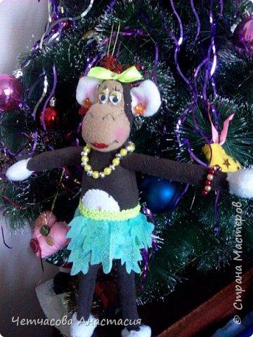 Вот моя новогодняя обезьяна  фото 3