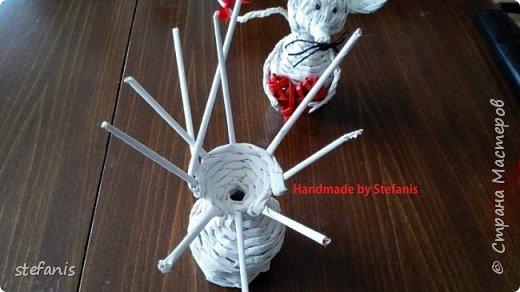 Такая у меня мышь получается.  Плету без формы. фото 12