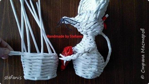 Такая у меня мышь получается.  Плету без формы. фото 6
