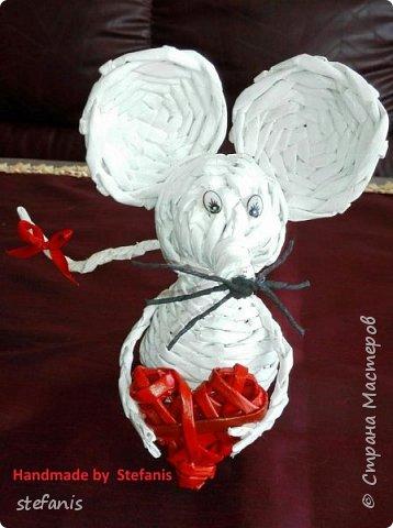 Такая у меня мышь получается.  Плету без формы. фото 2