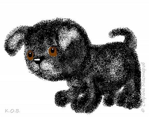 Рисунки собачек из ПЕЙНТА