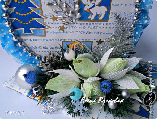 """С наступившим 2016 годом!!! Здоровья и благополучия каждой семье! Подарки к Новому году. Начну с домика на коробке """"Раффаэлло"""". За идею оформления спасибо Даше Хомюк. фото 5"""