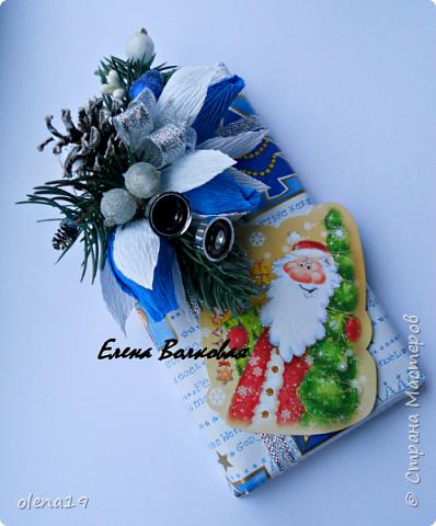 """С наступившим 2016 годом!!! Здоровья и благополучия каждой семье! Подарки к Новому году. Начну с домика на коробке """"Раффаэлло"""". За идею оформления спасибо Даше Хомюк. фото 15"""