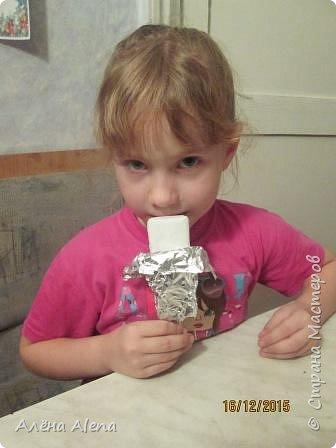 Вот такое мороженое-пломбир мы смастерили в рамках адвент-календаря. С ним вы можете познакомиться здесь: https://stranamasterov.ru/node/980743 фото 1
