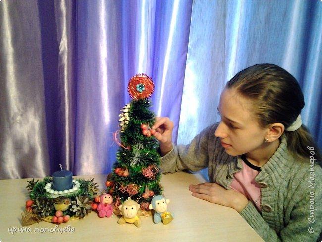 Добрый вечер,друзья!Примите наши с Ксюшей-моей ученицей-самые теплые поздравления и пожелания счастья,добра и творческих находок!С НОВЫМ ГОДОМ!!!УРА! В эти прекрасные дни хочу показать вам новогодние подарки,которые мы подготовили с Ксюшей.А еще-большую работу,выполненную впервые-панно из соленого теста! фото 7