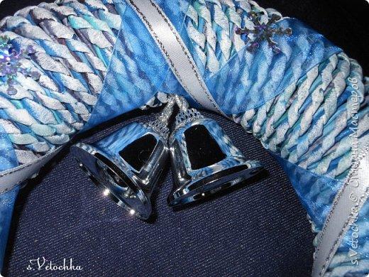 Голубая ель и венок. фото 3