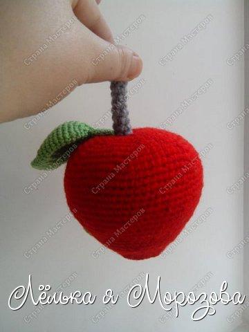 """Не большая предыстория создания этого яблочка: Ммммм,какое красивое яблочко-подумала я,увидев красное яблоко в корзинке с фруктами....но оказывается глаз на это яблоко положила не только я!червяк общил """"моё"""" яблоко.... в общем эта история и сподвигла меня на создание """"вкусного яблочка"""" фото 5"""