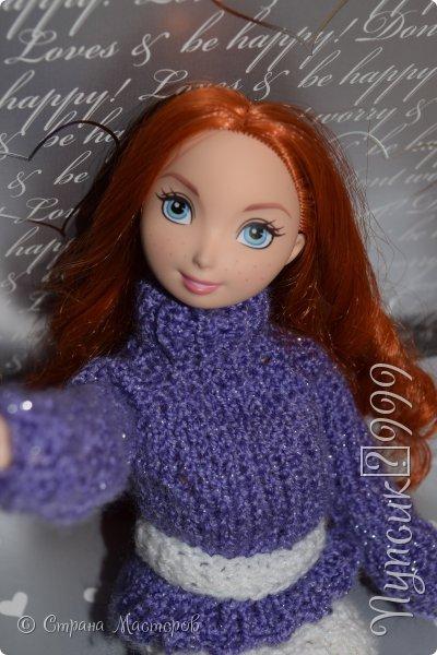 Всем привет ! Сегодня я решила вам показать свой подарок на новый год Елену .Еще я недавно освоила вязание спицами . Ну что начнем !  фото 2
