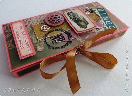Открытки, шоколадницы, календари  и  т.д.  для  мужчин  не  всем  нравится  делать,  но  приходится...  Я  сначала  тоже  не  любила,  а  сейчас очень   нравится  мужские  всякие  штучки  сочинять. Хочу  показать  некоторые  экземплярчики.  Сначала  открытки... фото 10