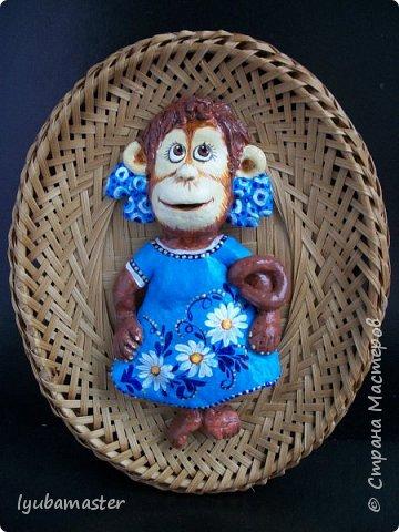 Здравствуйте дорогие мастера замечательной Страны Мастеров!!!!!! С Новым годом !!!!!!!! Счастья, здоровья, творческих успехов!!!!! Снова у меня обезьянки...... Все тоже только первые три размером 12-13 см.  фото 8