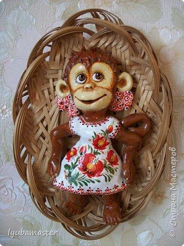 Здравствуйте дорогие мастера замечательной Страны Мастеров!!!!!! С Новым годом !!!!!!!! Счастья, здоровья, творческих успехов!!!!! Снова у меня обезьянки...... Все тоже только первые три размером 12-13 см.  фото 1