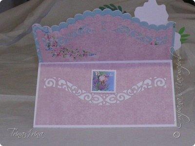 Последнее время у меня пользуются спросом открытки -мольберты. Вот показываю свои последние работы. Первая для девочки  фото 3