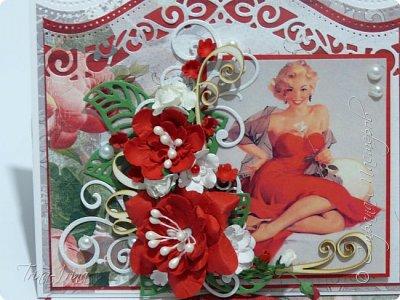 Последнее время у меня пользуются спросом открытки -мольберты. Вот показываю свои последние работы. Первая для девочки  фото 12