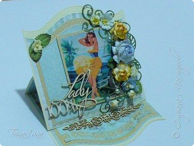 Последнее время у меня пользуются спросом открытки -мольберты. Вот показываю свои последние работы. Первая для девочки  фото 8