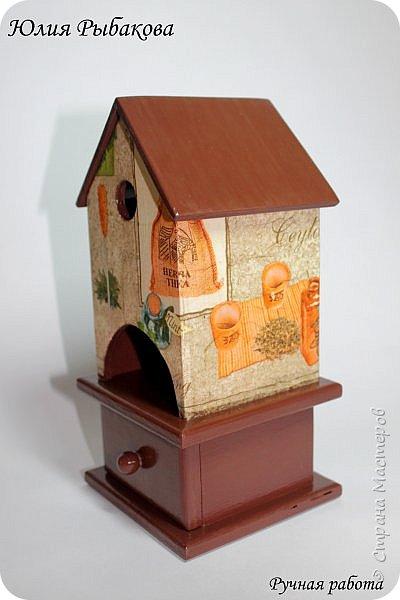 Три чайных домика со шкатулочками.  Переделывала два раза, но в итоге осталась довольна) фото 4
