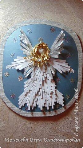 """Добрый вечер, уважаемые мастера! Наступил Новый 2016 год! Но праздники на этом не закончились , и нас ждёт ещё более прекрасный и замечательный праздник-это Рождество Христово! И пока есть свободное время, я решила сделать ещё новую работу. Назвала я её """"Снежный Ангел"""", т.к. в оформление добавила снежинки. фото 1"""
