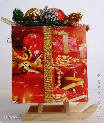 С Новым годом!!! Счастья, здоровья, любви и вдохновения!!! Начну с санок с конфетами для детишек:)   фото 4