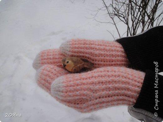 Здравствуйте, дорогие мастера и мастерицы! За окном - мороз, снег и ветер, самое время позаботиться о любимых ручках, связать для них красивые одежки!  фото 11