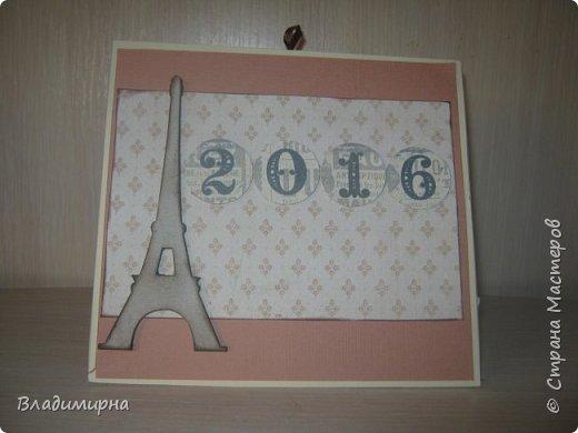 На новый год сделала для подруги календарь. Его можно поставить на стол.  фото 1