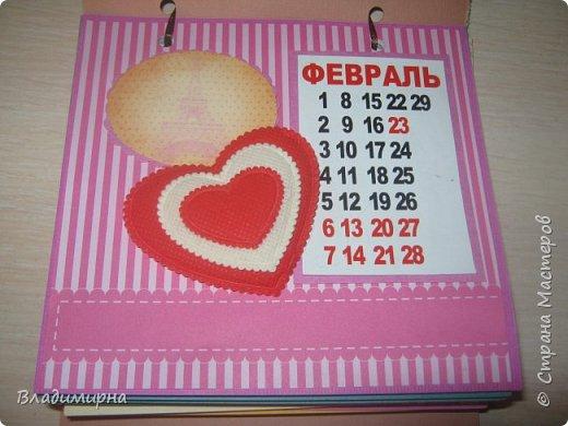 На новый год сделала для подруги календарь. Его можно поставить на стол.  фото 3