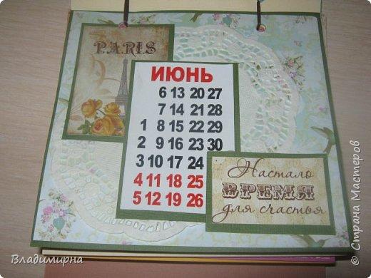 На новый год сделала для подруги календарь. Его можно поставить на стол.  фото 7