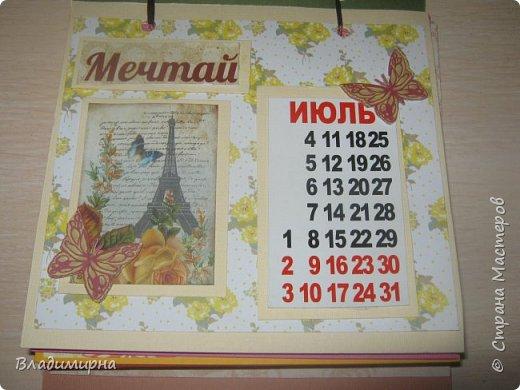 На новый год сделала для подруги календарь. Его можно поставить на стол.  фото 8