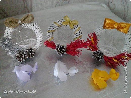 мини -подарочки для моих гостей. их можно подвешать на ёлочку,под ёлочку,на дверь и тд) фото 2