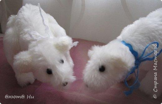 Давно хотела попробовать выкройку тильдовского белого медведя. Когда же шить их, как не зимой... Мишки подарочные, хотела порадовать девочек своих любимых фото 2