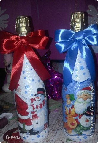 Новогоднии бутылочки  фото 1