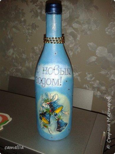 Подарочное оформление бутылок к новому году. фото 4