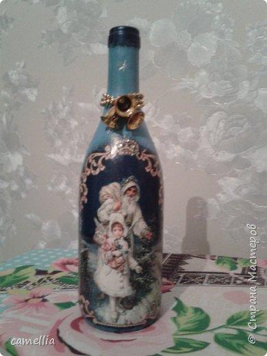 Подарочное оформление бутылок к новому году. фото 6