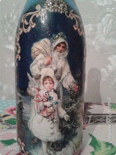 Подарочное оформление бутылок к новому году. фото 5