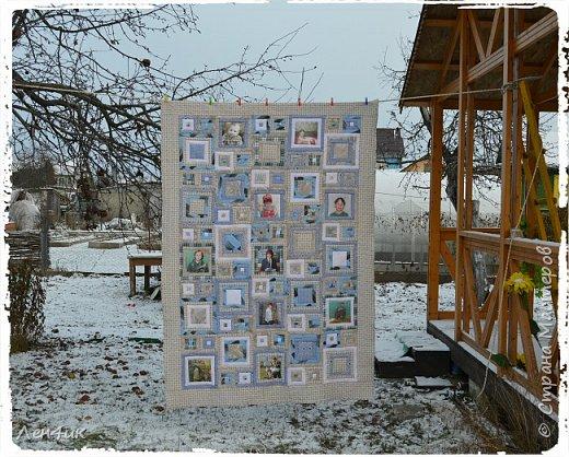 Это одеяло, вернее покрывало , я шила сыну в подарок на Новый Год. Фотографии старые, на бумажной основе. Отсканированы, переведены в цифру и распечатаны на ткани. Размер 145х205см.  Подарок очень понравился. фото 2