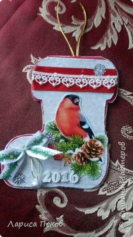 В канун Нового года смастерила для внуков открыточки. фото 2