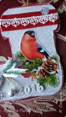 В канун Нового года смастерила для внуков открыточки. фото 4
