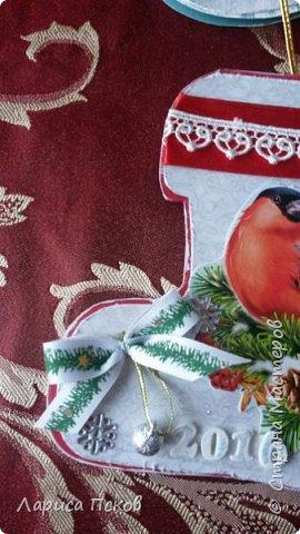 В канун Нового года смастерила для внуков открыточки. фото 3