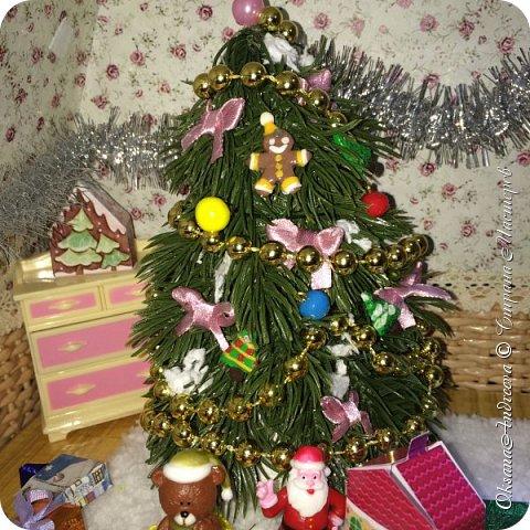 Вот такие стол и елочка были на Новый год в нашем маленьком домике. фото 7