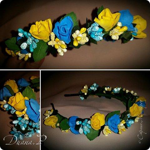 Ободок розы из  фоамирана + декор фото 1