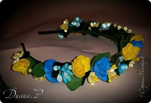 Ободок розы из  фоамирана + декор фото 2
