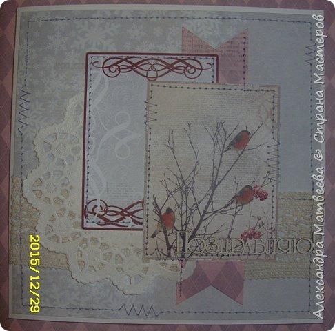 """Новогодняя серия открыток """"А на ветках снегири..."""" (и синицы))) фото 3"""