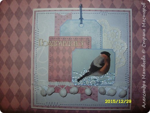 """Новогодняя серия открыток """"А на ветках снегири..."""" (и синицы))) фото 5"""