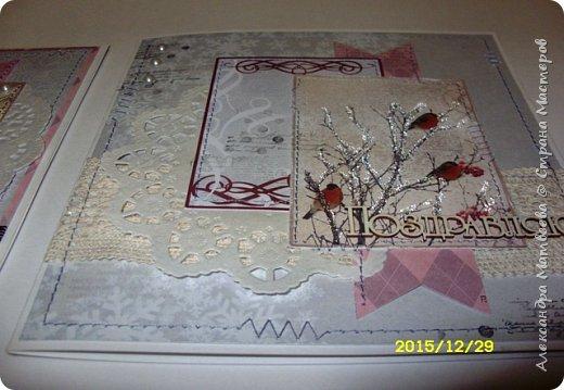 """Новогодняя серия открыток """"А на ветках снегири..."""" (и синицы))) фото 7"""